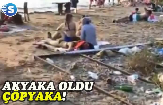 Akyaka'nın çöpleri tepki topluyor