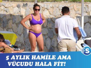 Aslı Tandoğan hamileliğini tatilde geçiriyor