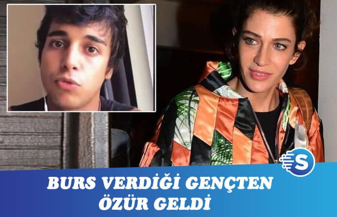 Berrak Tüzünataç'ı hayal kırıklığına uğratan gençten özür videosu geldi