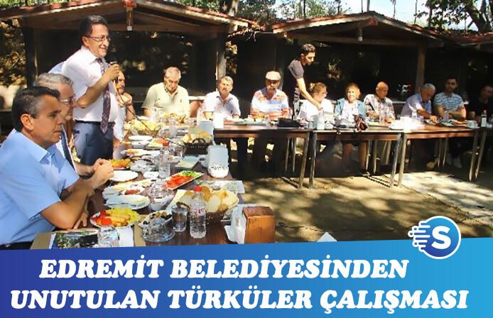 Edremit Belediyesi'nden unutulan türküler çalışması