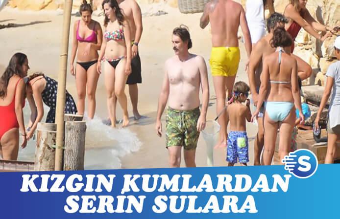 Erdal Beşikçioğlu'nun turne öncesi ailesi ile tatilde