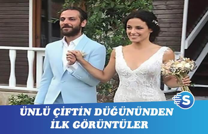 Erkan Kolçak Köstendil ve Cansu Tosun'un düğün gününden ilk görüntüler