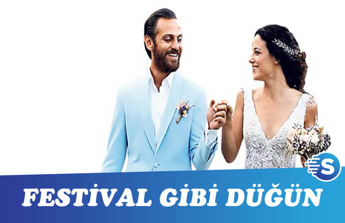 Festival tadında düğün oldu