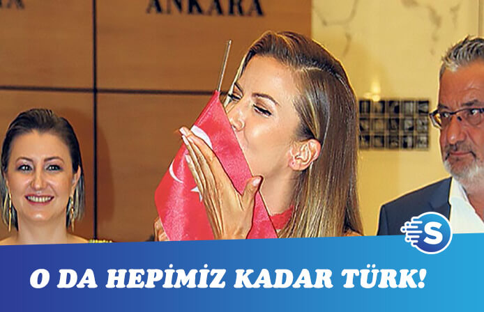 Ivana Sert'in Türk bayrağı sevgisi