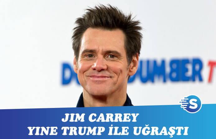 Jim Carrey Donald Trump ile uğraşmaya devam ediyor