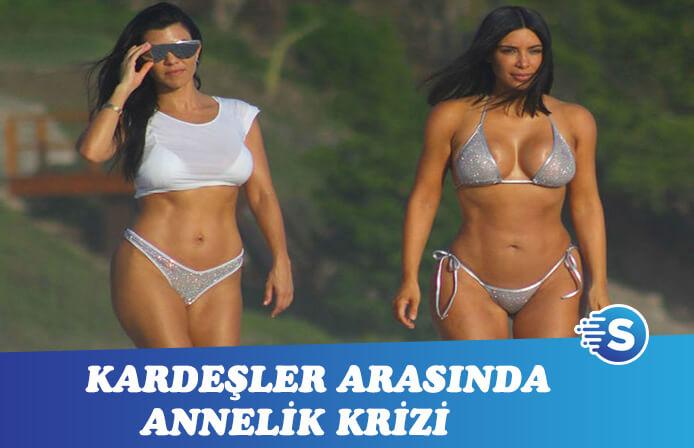 Kardashian kardeşler arasında annelik krizi