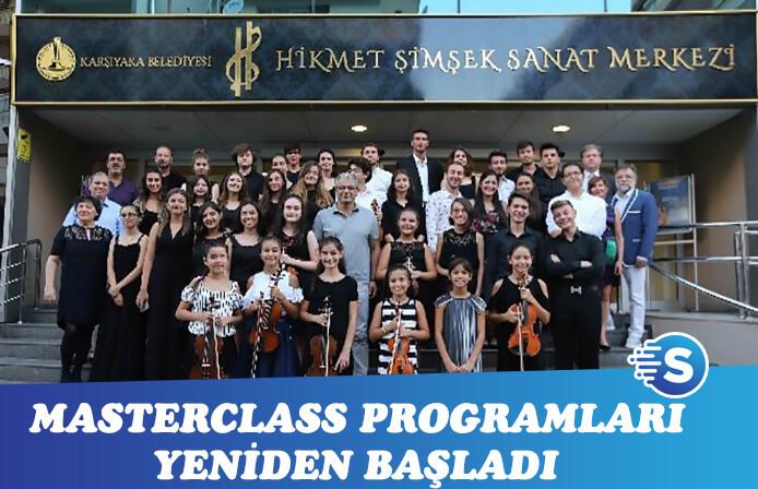 Karşıyaka Belediyesi'nin Masterclass programları tekrar başladı