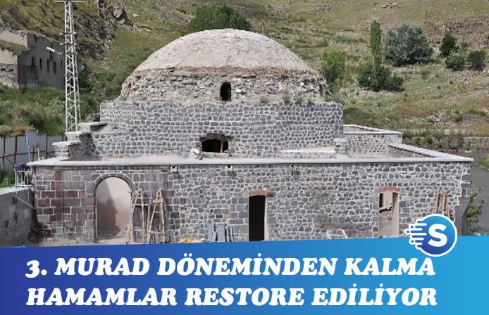 3. Murad dönemi hamamların restoresi sürüyor