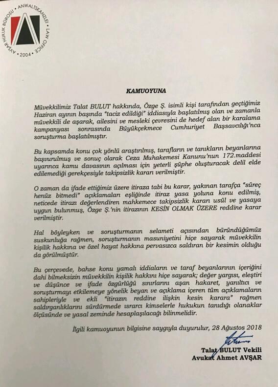 talat bulut son mahkeme kararı