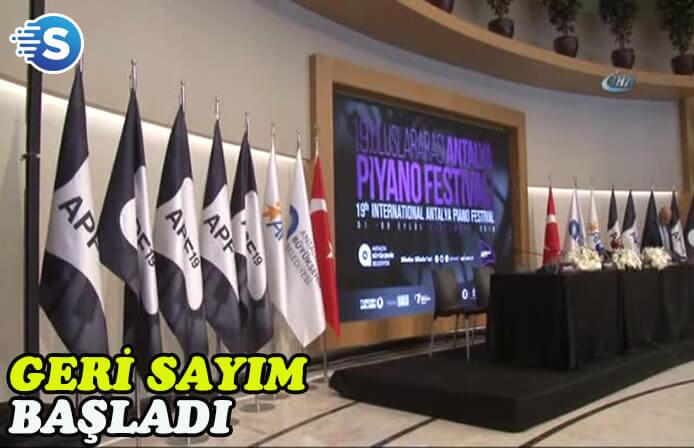 19. Uluslararası Antalya Piyano Festivali için geri sayım başladı