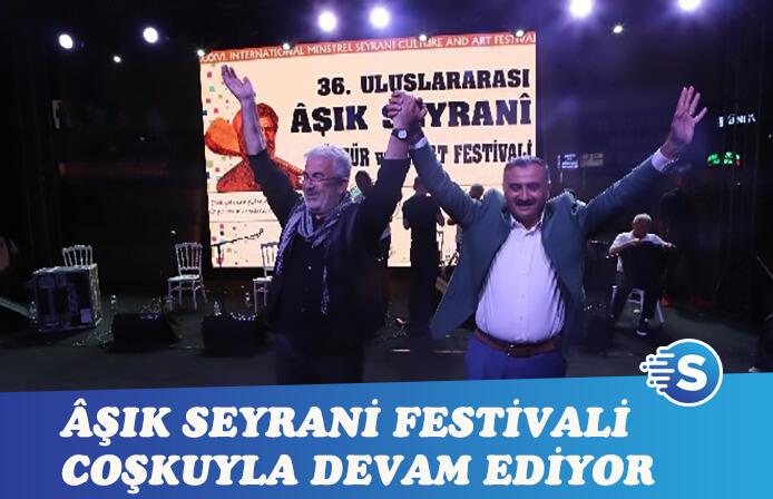 36. Uluslararası Âşık Seyrani Kültür ve Sanat Festivali 2. gününü geride bıraktı