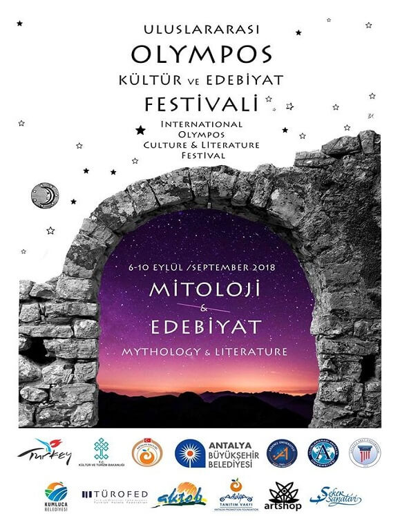 uluslararası olympos kültür ve edebiyat festivali afiş
