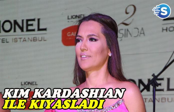 Demet Akalın kendini Kim Kardashian ile kıyasladı
