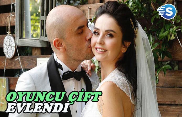 Oyuncu çift Giray Altınok ve Cansu Diktaş evlendi