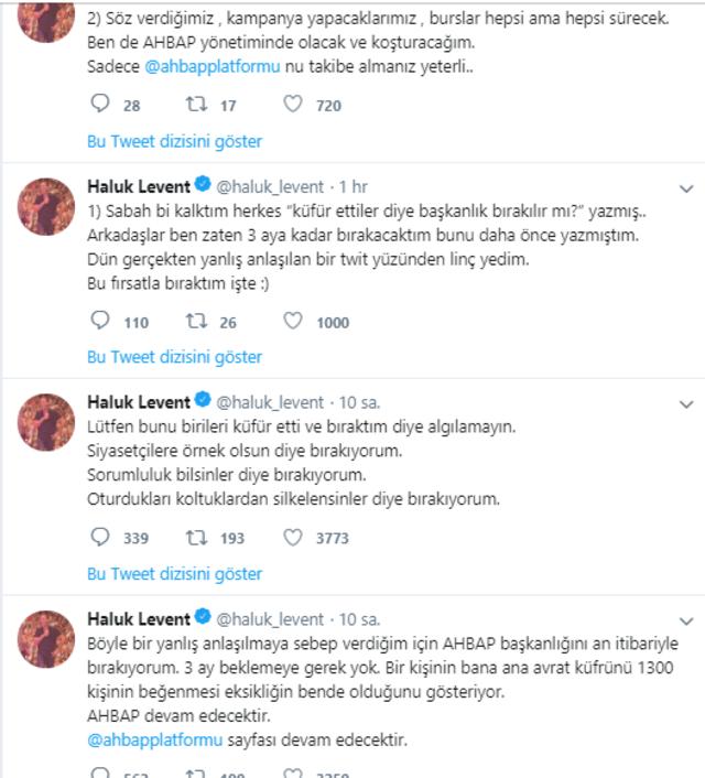 haluk levent istifa twit