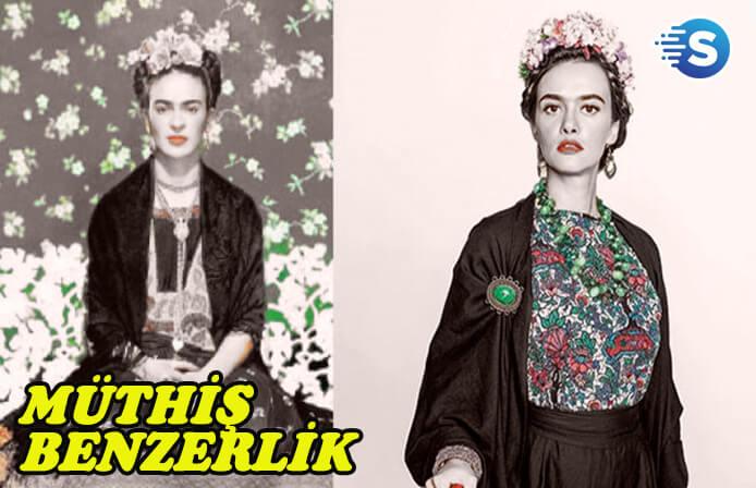 Hande Soral, Frida Kahlo'ya olan benzerliği şaşırttı