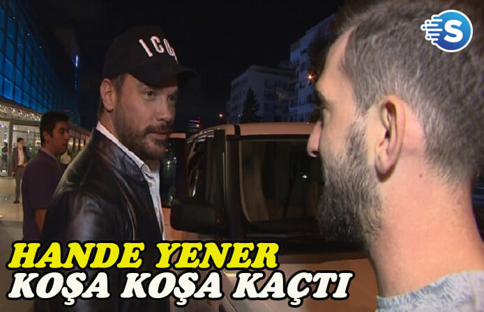 Sinan Akçıl'ı gören Hande Yener mekanı terk etti