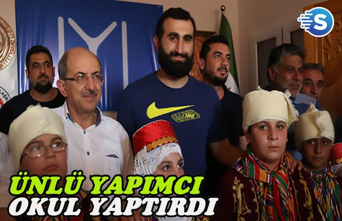 Kemal Tekden, Afrin'e okul yaptırdı