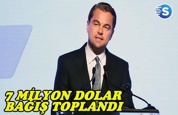 Leonardo DiCaprio 7 milyon dolardan fazla bağış topladı