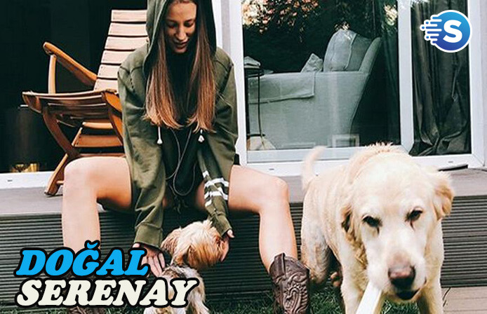 Serenay Sarıkaya'nın köpekleri ile mutluluğu
