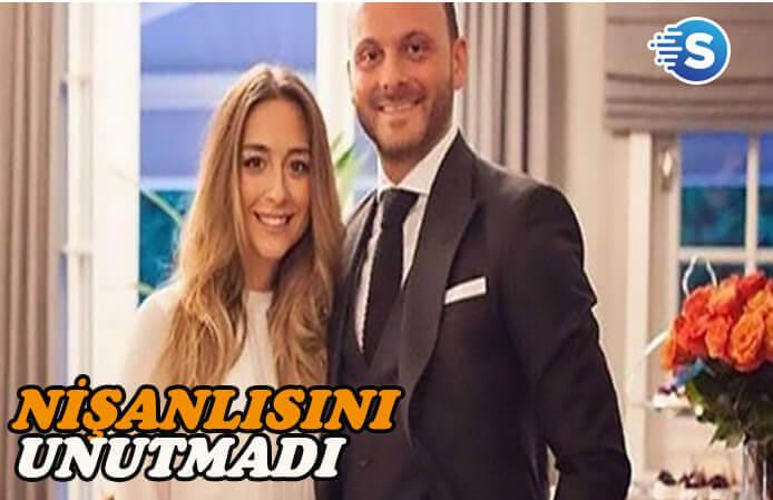 Murat Gezer nişanlısını unutmadı