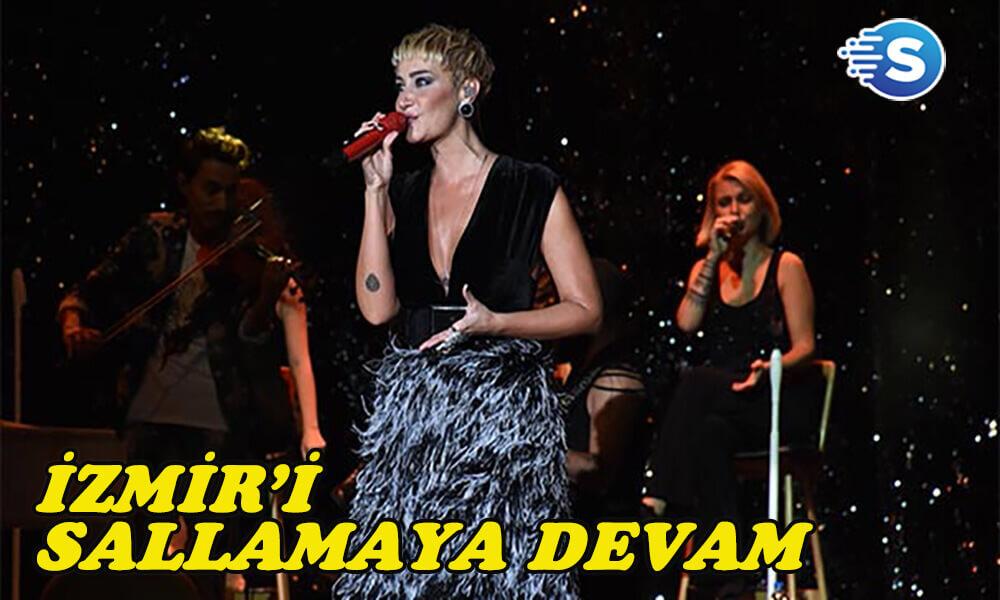 Sıla, İzmir'i sallamaya devam ediyor