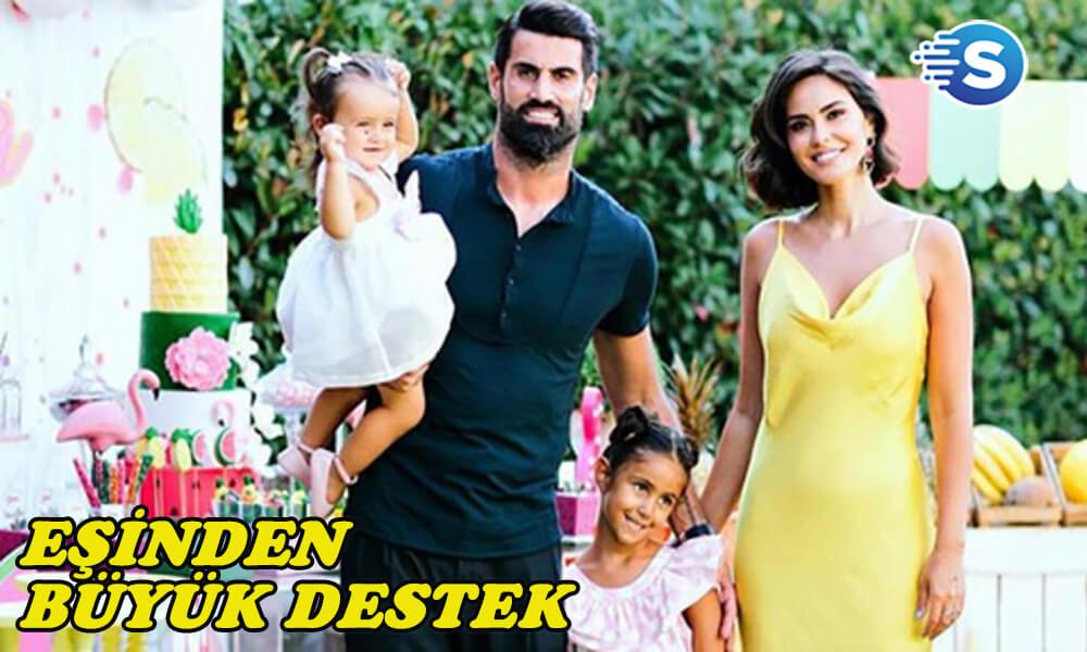 Zeynep Demirel'den eşi Volkan Demirel'e destek