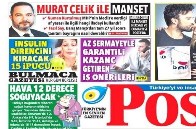 Murat Çelik'in yeni adresi Posta gazetesi oldu