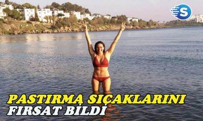Özge Borak, Kasım ayında denize girdi